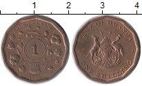 Изображение Монеты Уганда 1 шиллинг 1987 Медь XF Флора