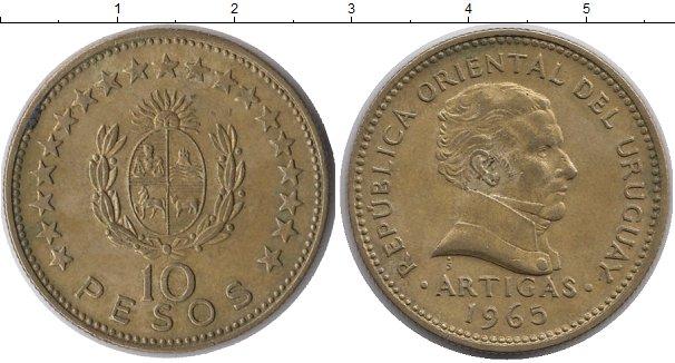 Картинка Монеты Уругвай 10 песо Латунь 1965
