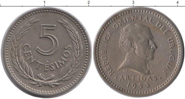 Картинка Монеты Уругвай 5 сентесим Медно-никель 1953