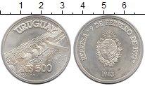 Изображение Монеты Уругвай 500 песо 1983 Серебро UNC-