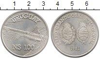 Изображение Монеты Уругвай 100 песо 1981 Серебро UNC-