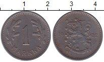 Изображение Монеты Финляндия 1 марка 1952 Железо XF Герб