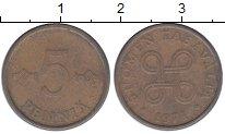 Изображение Монеты Финляндия 5 пенни 1971 Медь XF
