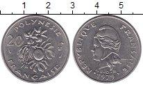 Изображение Монеты Полинезия 20 франков 1979 Медно-никель XF Французский протекто