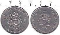 Изображение Монеты Полинезия 20 франков 1967 Медно-никель XF Французский протекто