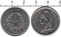 Изображение Монеты Франция 1 франк 1992 Медно-никель XF Голова женщины