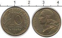 Изображение Монеты Франция 10 сантим 1998 Латунь VF