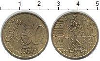 Изображение Монеты Франция 50 евроцентов 1999 Латунь VF