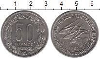 Изображение Монеты КФА 50 франков 1963 Медно-никель XF Конго-Габон-Чад