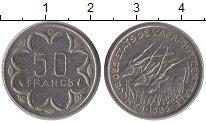 Изображение Монеты КФА 50 франков 1985 Медно-никель XF