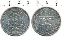 Изображение Монеты Франция 100 франков 1990 Серебро XF Шарль Магне
