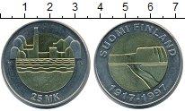 Изображение Монеты Финляндия 25 марок 1997 Биметалл UNC 80 лет независимости