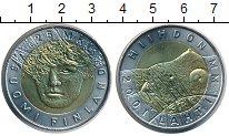 Изображение Монеты Финляндия 25 марок 2001 Биметалл UNC ЧМ по лыжам в Лахти