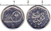Изображение Монеты Чехия 20 хеллеров 1997 Алюминий XF