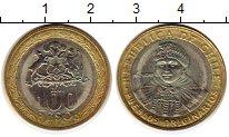 Изображение Монеты Чили 100 песо 2003 Биметалл UNC- Индеец Мапуче