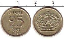 Изображение Монеты Швеция 25 эре 1954 Серебро UNC