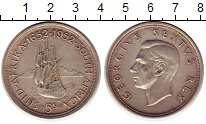 Изображение Монеты ЮАР 5 шиллингов 1952 Серебро XF
