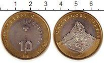 Изображение Монеты Швейцария 10 франков 2004 Биметалл UNC-