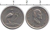 Изображение Монеты ЮАР 5 центов 1976 Медно-никель XF