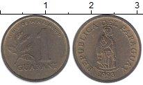 Изображение Монеты Парагвай 1 гуарани 1993 Латунь XF