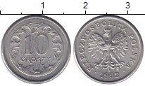 Изображение Монеты Польша 10 грош 1992 Медно-никель XF герб