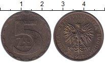 Изображение Монеты Польша 5 злотых 1987 Латунь XF