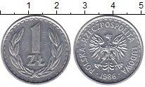 Изображение Монеты Польша 1 злотый 1986 Алюминий XF