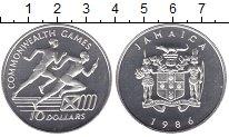 Изображение Монеты Ямайка 10 долларов 1986 Серебро UNC