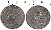 Изображение Монеты Польша 20 злотых 1980 Медно-никель UNC- 50-летие трехмачтово