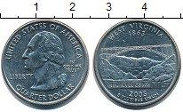 Изображение Монеты США 1/4 доллара 2005 Медно-никель UNC `Серия ``Штаты и тер