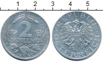 Изображение Монеты Австрия 2 шиллинга 1947 Алюминий XF