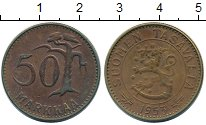 Изображение Монеты Финляндия 50 марок 1953 Латунь XF-