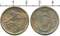 Изображение Монеты ЮАР 50 центов 2003 Латунь XF+