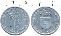 Изображение Монеты Бельгийское Конго 1 франк 1958 Алюминий XF