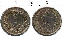 Изображение Монеты Ливия 5 дирхам 1979 Латунь XF+