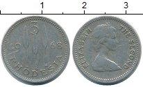 Изображение Монеты Великобритания Родезия 3 пенса 1968 Медно-никель XF