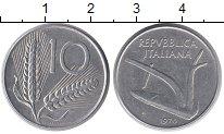 Изображение Монеты Италия 10 лир 1976 Алюминий XF