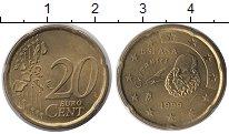 Изображение Монеты Испания 20 евроцентов 1999 Латунь XF