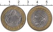 Изображение Монеты Италия 1000 лир 1998 Биметалл UNC-