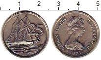 Изображение Монеты Каймановы острова 25 центов 1973 Медно-никель UNC- корабль