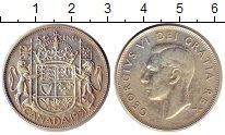 Изображение Монеты Канада 50 центов 1951 Серебро XF+ George VI