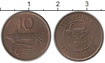 Изображение Монеты Исландия 10 аурар 1981 Бронза XF