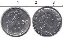 Изображение Монеты Италия 50 лир 1995 Сталь XF