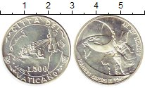 Изображение Монеты Ватикан 500 лир 1992 Серебро UNC-