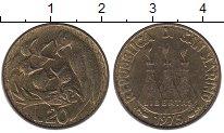 Изображение Монеты Сан-Марино 20 лир 1975 Латунь XF