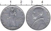 Изображение Монеты Ватикан 10 лир 1952 Алюминий XF Понтифик  Пий XII