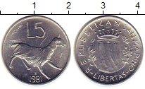 Изображение Монеты Сан-Марино 5 лир 1981 Алюминий UNC