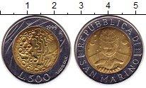 Изображение Монеты Сан-Марино 500 лир 1999 Биметалл UNC космос
