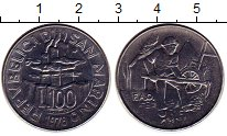 Изображение Монеты Сан-Марино 100 лир 1978 Сталь UNC-