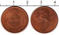 Изображение Монеты Сомали 1 сентесимо 1950 Бронза UNC- Итальянская Сомали.